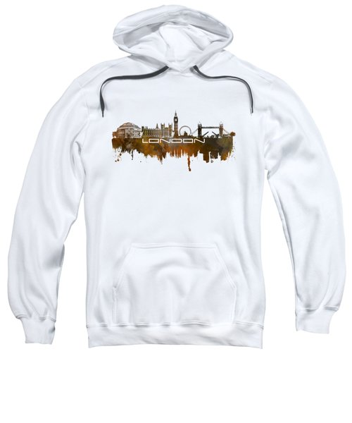 London Skyline City Brown Sweatshirt by Justyna JBJart