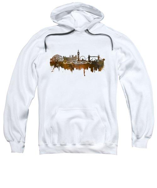 London Skyline City Brown Sweatshirt