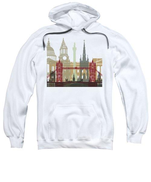 London Skyline Poster Sweatshirt