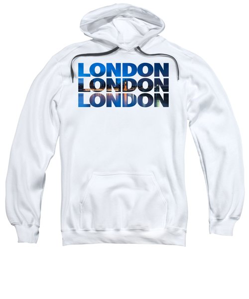London Text Sweatshirt by Matt Malloy