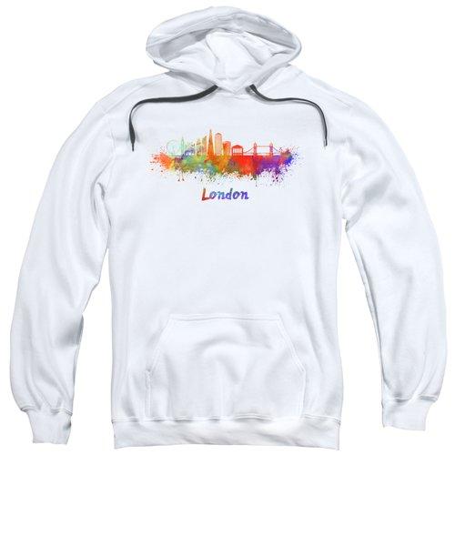 London V2 Skyline In Watercolor  Sweatshirt by Pablo Romero