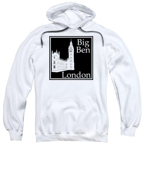 London's Big Ben In Black Sweatshirt by Custom Home Fashions