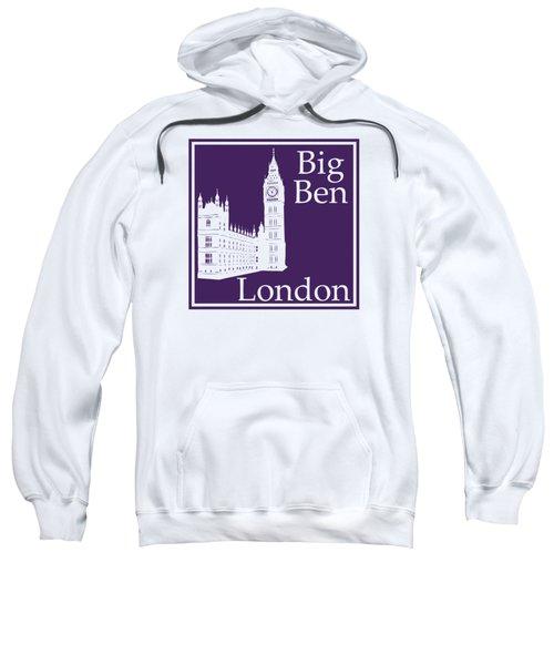 London's Big Ben In Purple Sweatshirt