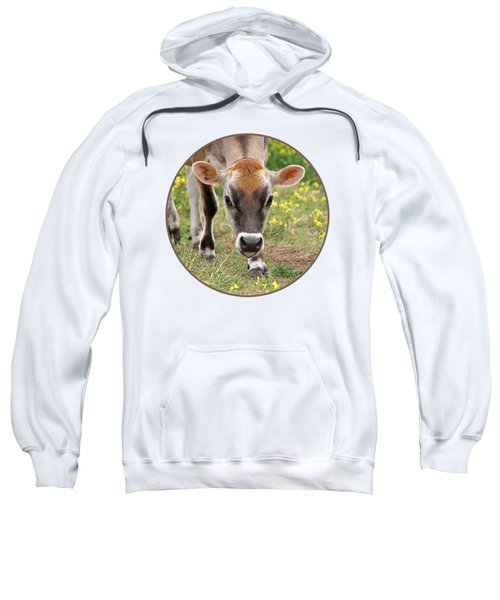 Look Into My Eyes - Jersey Cow - Square Sweatshirt