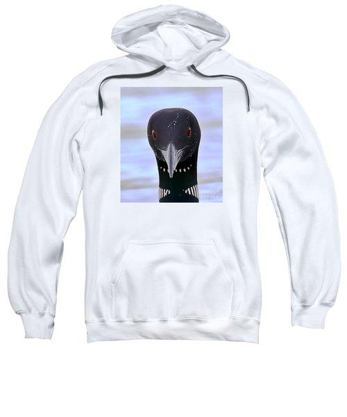 Loon Portrait Sweatshirt by Peter Gray