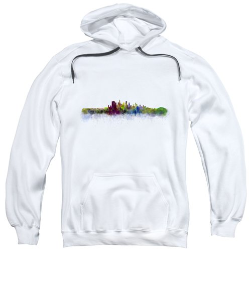 Los Angeles City Skyline Hq V3 Sweatshirt by HQ Photo