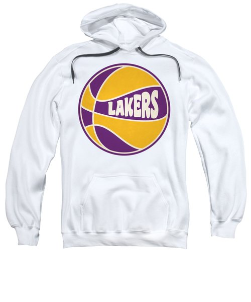 Los Angeles Lakers Retro Shirt Sweatshirt by Joe Hamilton