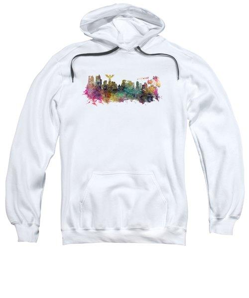 Los Angeles Skyline Sweatshirt by Justyna JBJart