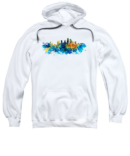 Los Angeles Skyline Sweatshirt by Marian Voicu