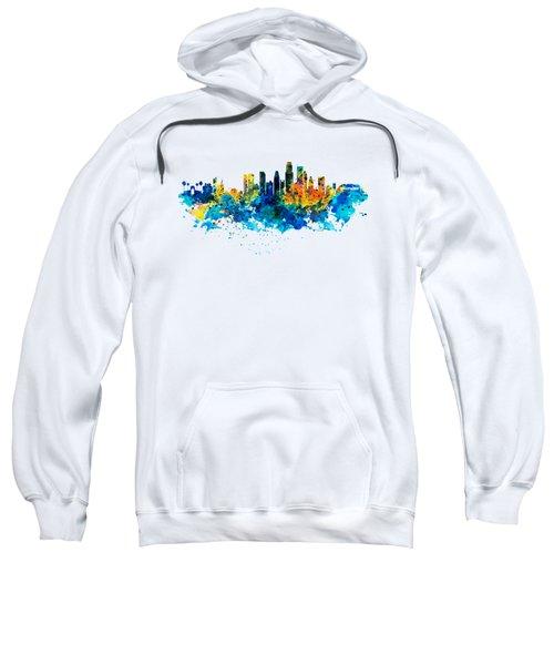 Los Angeles Skyline Sweatshirt by Marian Voicu