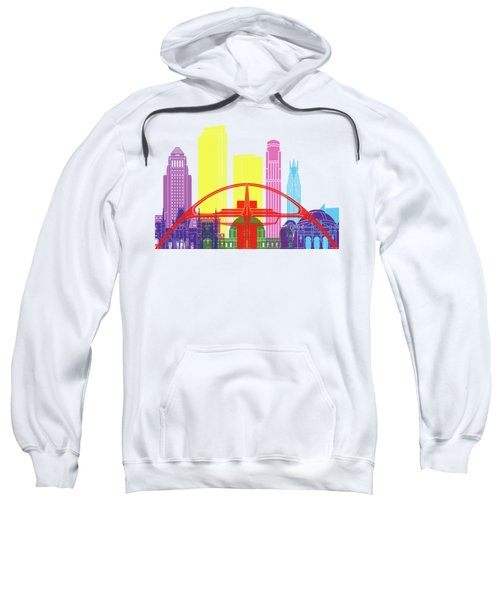 Los Angeles Skyline Pop Sweatshirt by Pablo Romero