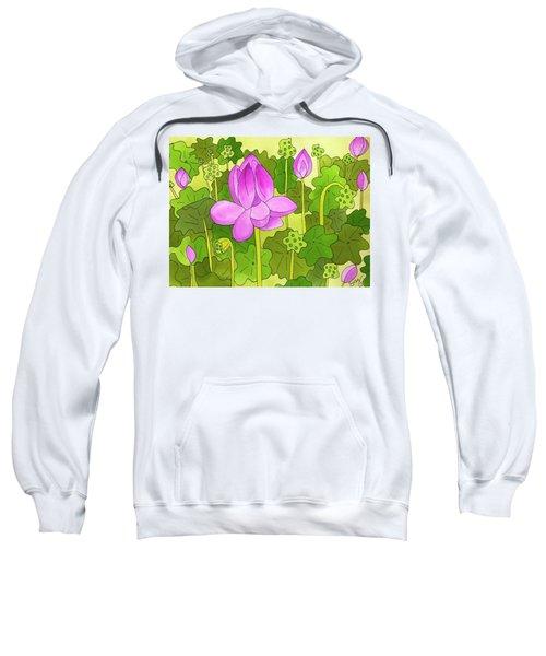Lotus And Waterlilies Sweatshirt