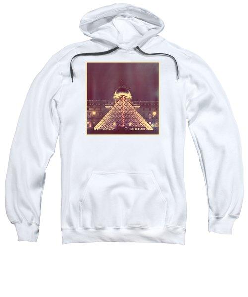 Louvre Palace And Pyramid Sweatshirt by Aurella FollowMyFrench