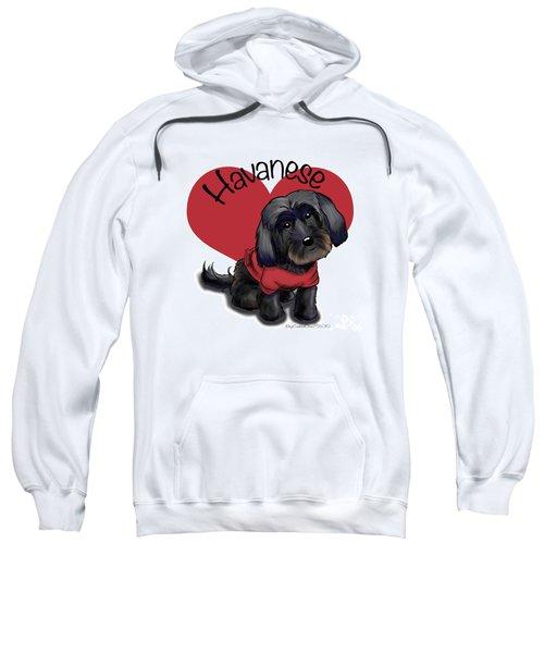 Lovable Black Havanese Sweatshirt