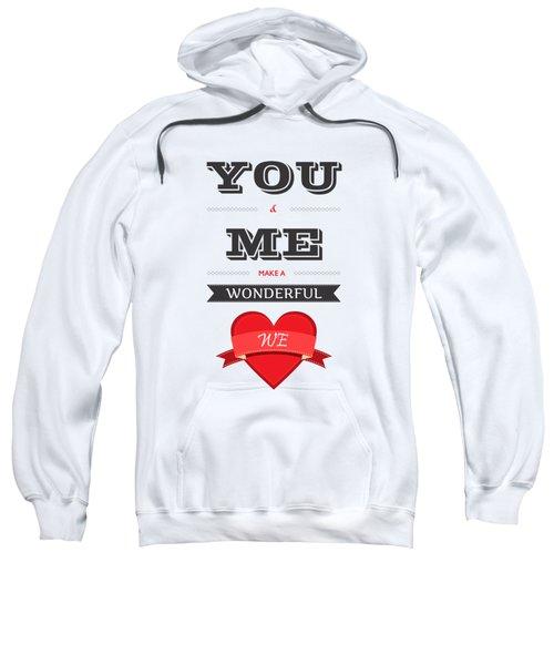 Love Lyrics Quotes Typography Quotes Poster Sweatshirt