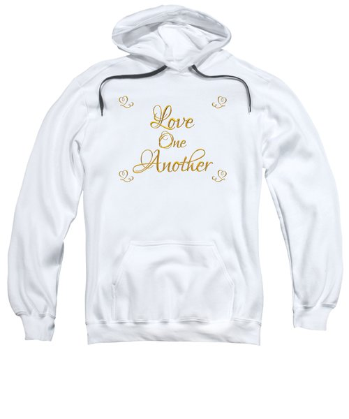 Love One Another Golden 3d Look Script Sweatshirt