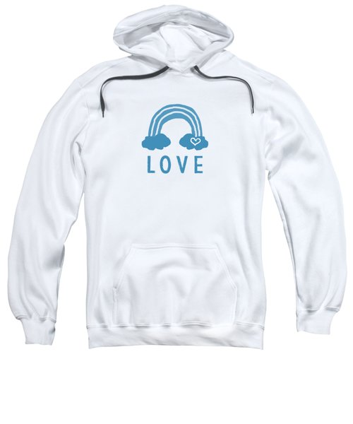 Love Rainbow- Art By Linda Woods Sweatshirt