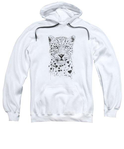 Lovely Leopard Sweatshirt by Balazs Solti