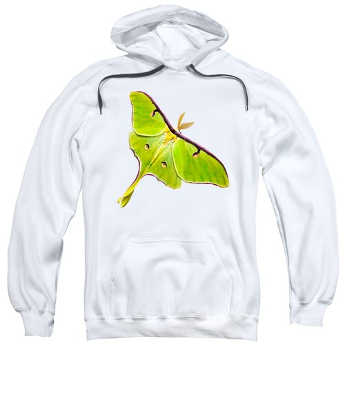 Sweatshirt featuring the photograph Luna Moth by Christina Rollo