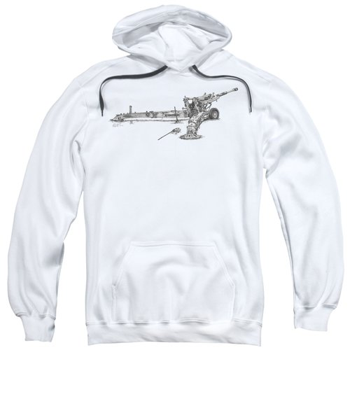 M198 Howitzer - Natural Sized Prints Sweatshirt