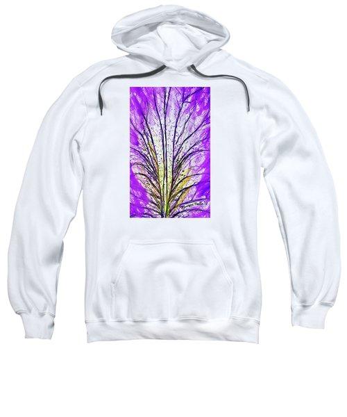 Macro Iris Petal Sweatshirt