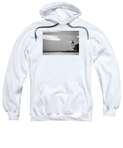 Madisonville Lighthouse In Black-and-white 2 Sweatshirt
