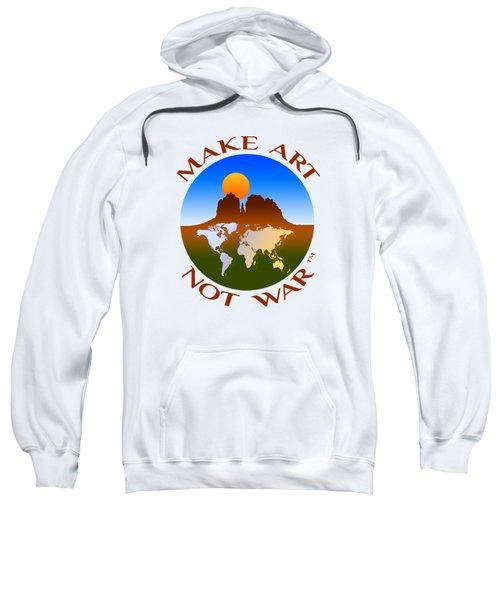 Make Art Not War Logo Sweatshirt