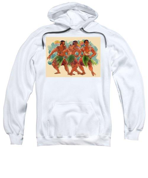 Male Dancers Of Lifuka, Tonga Sweatshirt