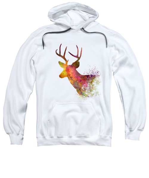 Male Deer 02 In Watercolor Sweatshirt