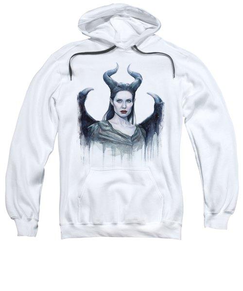 Maleficent Watercolor Portrait Sweatshirt