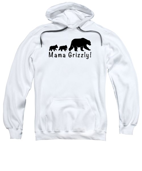 Mama Grizzly And Cubs Sweatshirt by A C