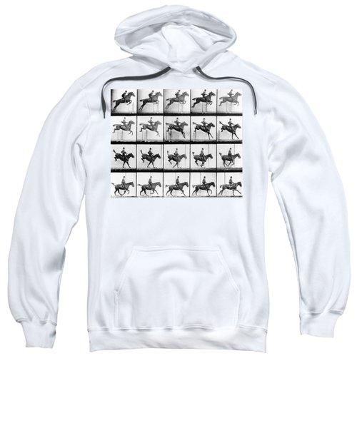 Man And Horse Jumping Sweatshirt