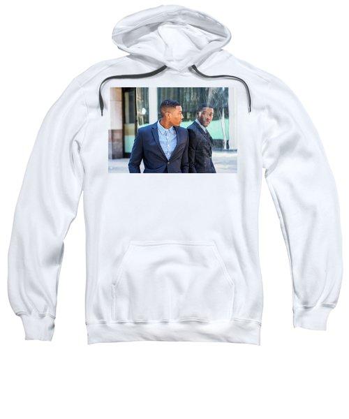 Man Looking At Mirror Sweatshirt