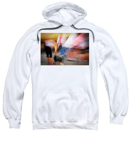 Woman Playing With Dog Sweatshirt
