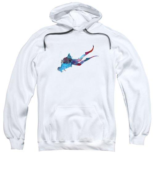 Man Scuba Diver 03 In Watercolor Sweatshirt