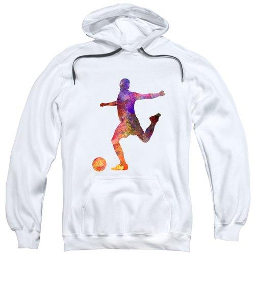 Man Soccer Football Player 03 Sweatshirt by Pablo Romero
