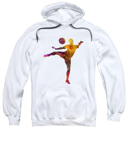 Man Soccer Football Player 07 Sweatshirt by Pablo Romero
