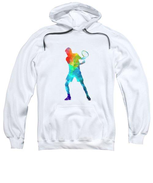 Man Tennis Player 02 In Watercolor Sweatshirt by Pablo Romero