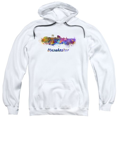 Manchester Nh Skyline In Watercolor Sweatshirt