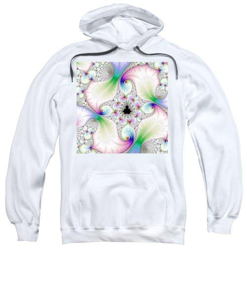 Mandebrot In Pastel Fractal Wonderland Sweatshirt by Matthias Hauser
