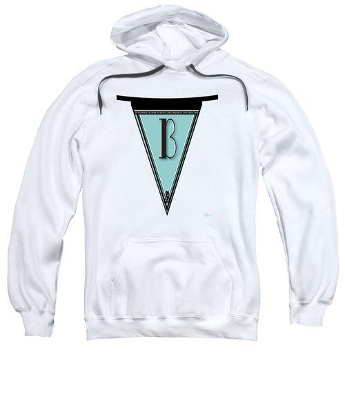 Pennant Deco Blues Banner Initial Letter B Sweatshirt