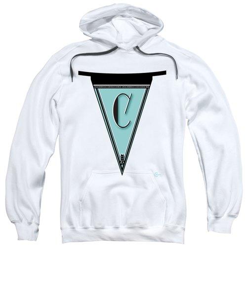Pennant Deco Blues Banner Initial Letter C Sweatshirt