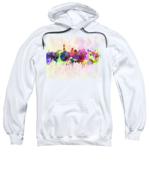 Manhattan Skyline In Watercolor Background Sweatshirt