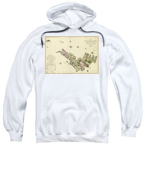 Map Of Saint Barts 1801 Sweatshirt