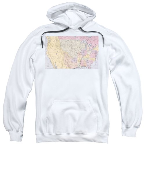 Map Showing The Localities Of The Indian Tribes Of The Us In 1833 Sweatshirt by Thomas L McKenney and James Hall