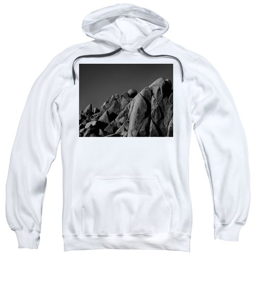 Marble Rock Formation B And W Version Sweatshirt