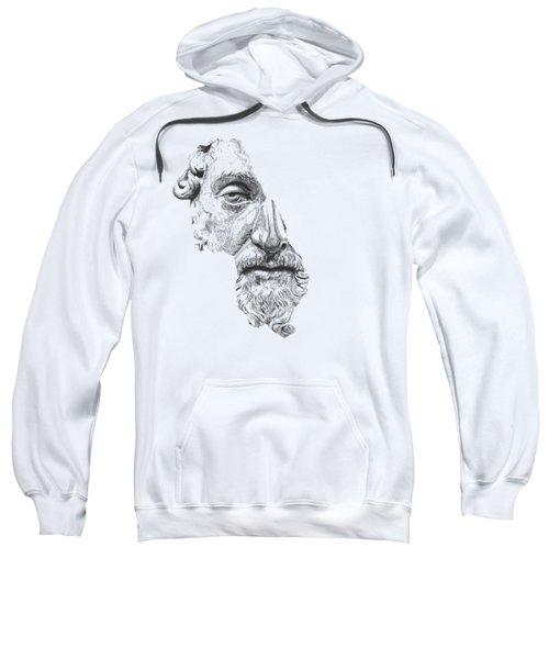 Marcus Aurelius Antoninus Augustus / Black And White Sweatshirt