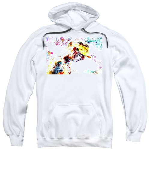 Maria Sharapova Paint Splatter 4p                 Sweatshirt by Brian Reaves