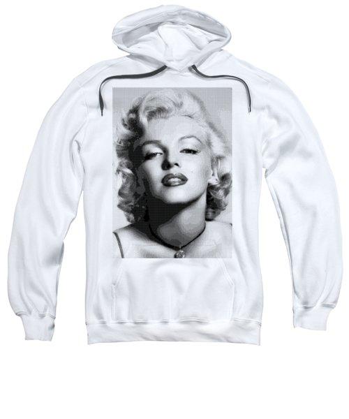 Marilyn Monroe - Bw Hexagons Sweatshirt