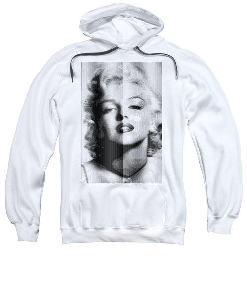 Marilyn Monroe - Bw Verticals  Sweatshirt